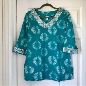 Calypso for Target Turquoise Tie Dye Tunic